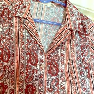 Tops - Donating Soon! Make Offer!  vintage paisley blouse